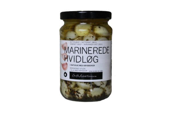 Marinerede hvidløg i rapsolie med krydderier