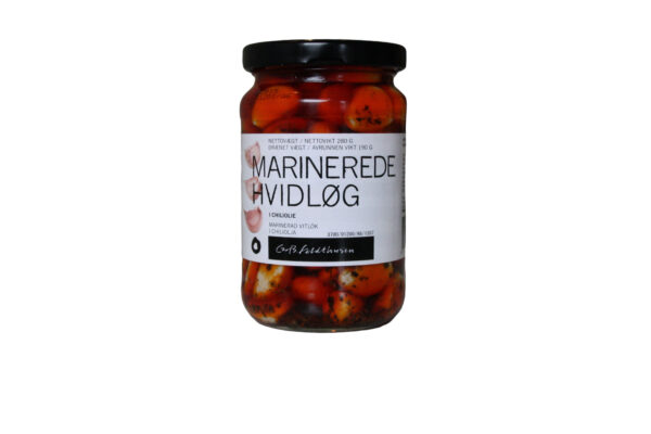 Marinerede hvidløg i rapsolie med chili
