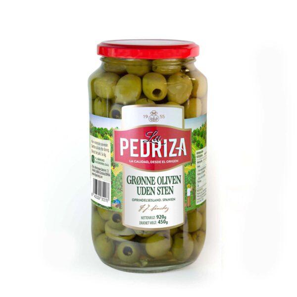 Grønne oliven uden sten