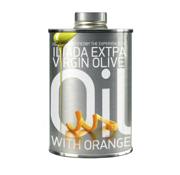 Ekstra jomfru olivenolie med appelsin