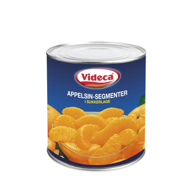 Appelsinsegmenter i let sukkerlage