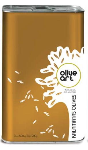 Græske kalamata oliven i dåse