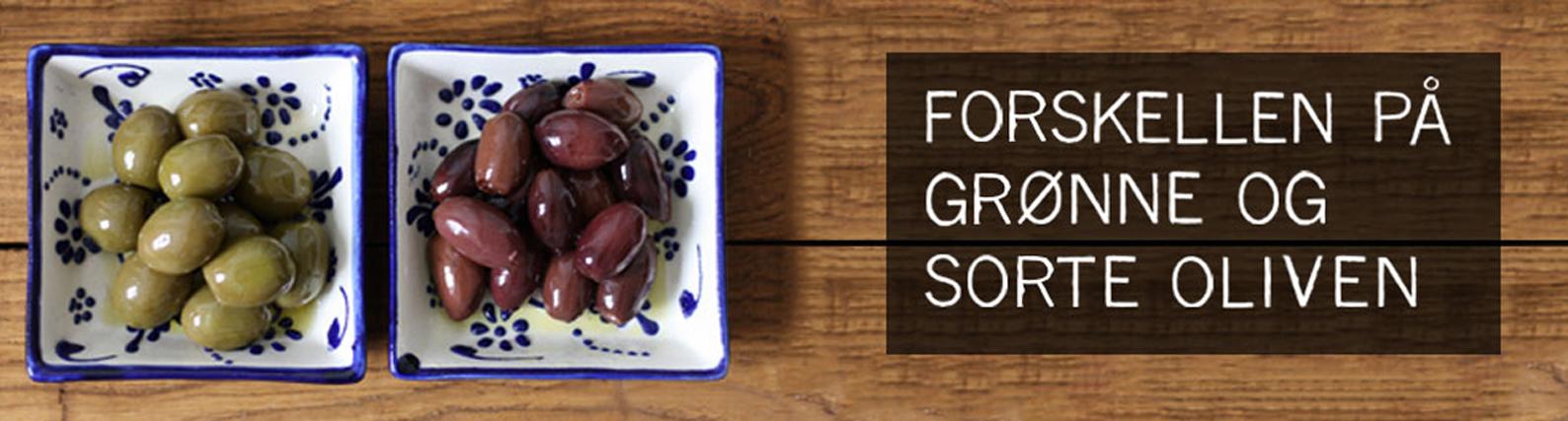 forskellen på grønne og sorte oliven