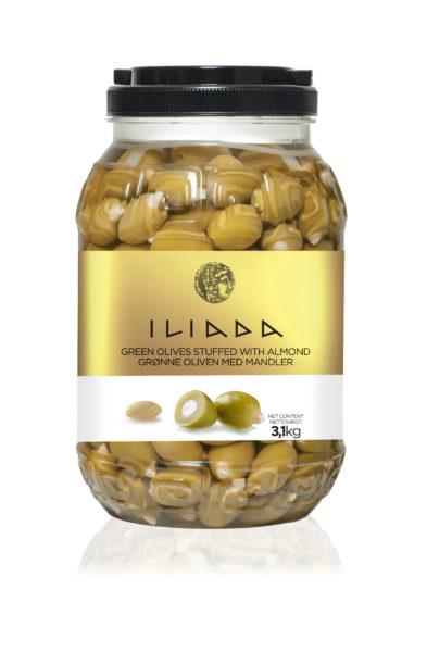 Grønne oliven med mandler