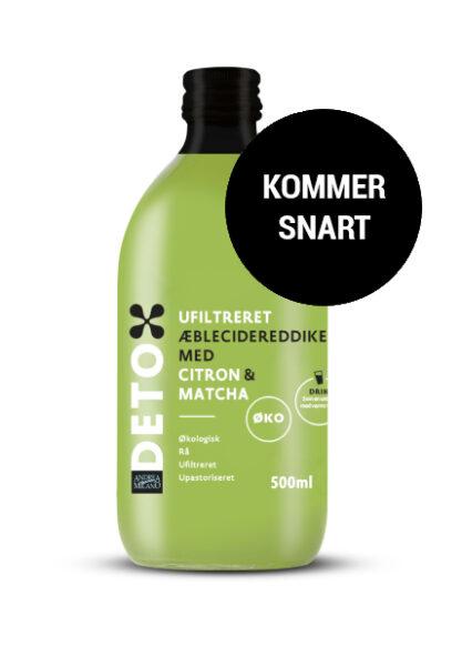 Økologisk ufiltreret æblecidereddike m. citron & matcha